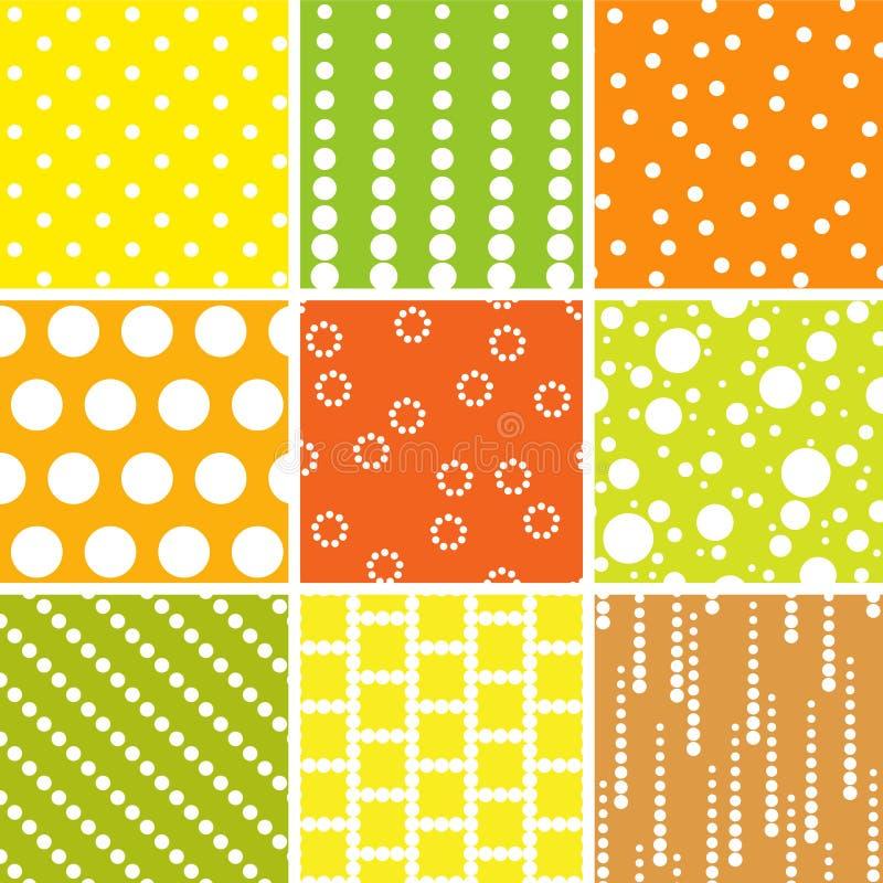 Bezszwowi wzory, polek kropki ustawiać ilustracji