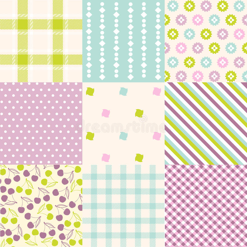 Bezszwowi wzory z tkaniny teksturą ilustracja wektor
