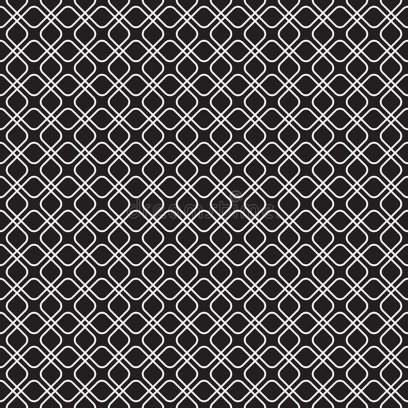 Bezszwowy łączy płytka wzoru tło ilustracja wektor