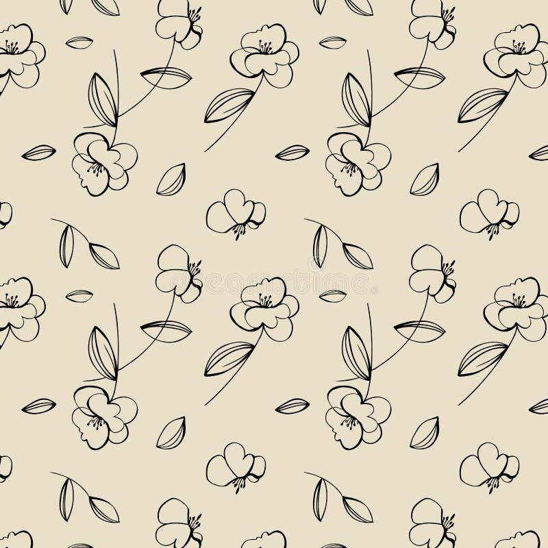 Bezszwowy śliczny kwiatu wzór obrazy royalty free