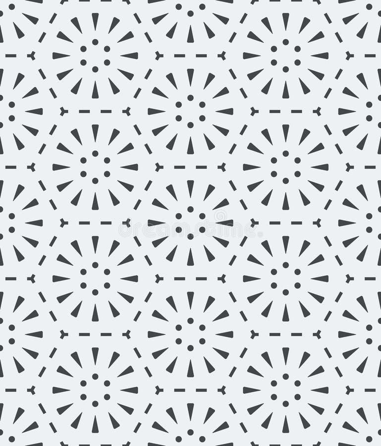 Bezszwowy światło - szary prosty geometryczny wzór ilustracja wektor