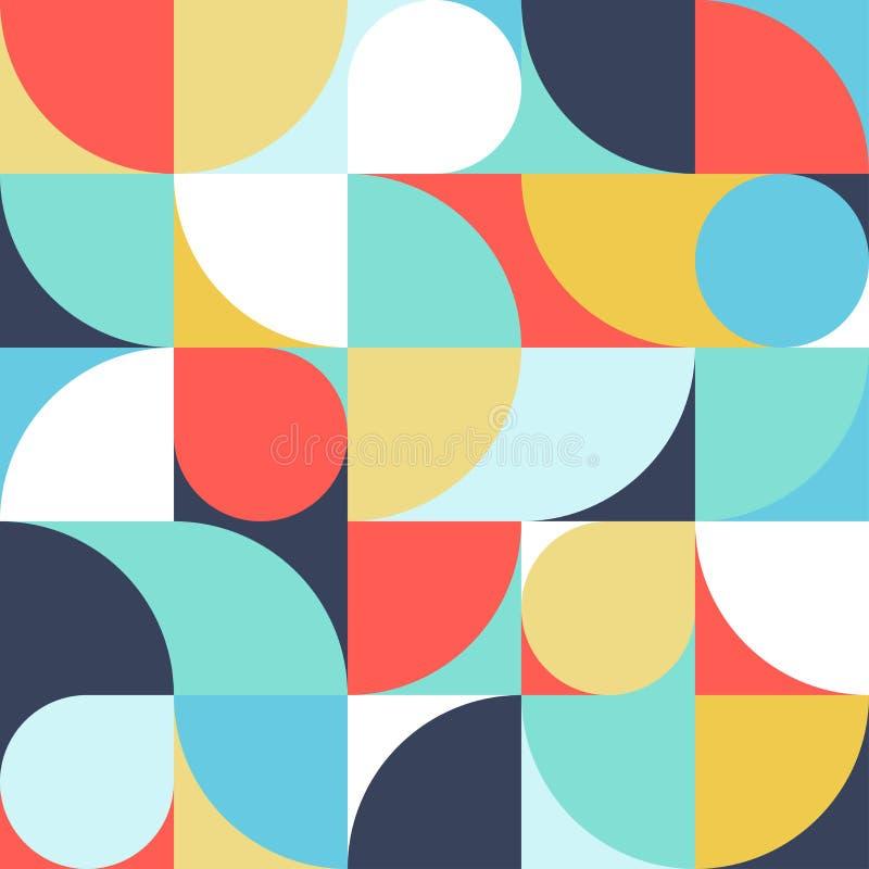 Bezszwowy żyłkowany abstrakcjonistyczny geometryczny druk Wektorowa wielo- barwiona ilustracja Oryginalny geometryczny wz?r ilustracja wektor