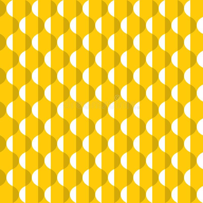 Bezszwowy abstrakcjonistyczny żółty dekoracyjny rocznik dimpled nawierzchniowy patSeamless abstrakcjonistyczny żółty dekoracyjny  ilustracja wektor