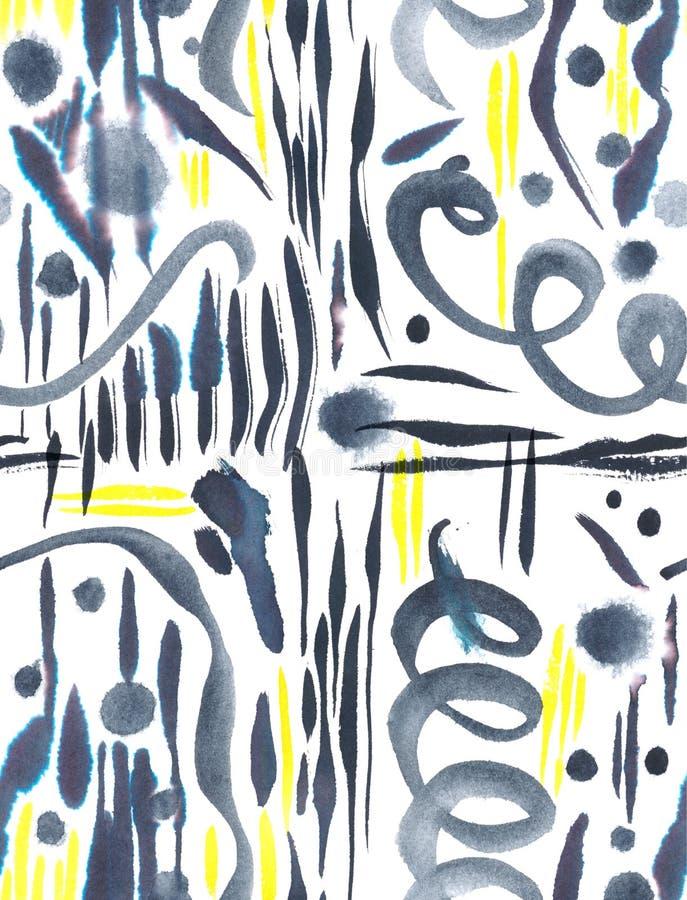 Bezszwowy abstrakcjonistyczny akwarela wzór ilustracja wektor