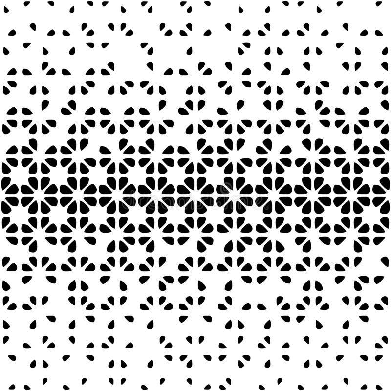 Bezszwowy abstrakcjonistyczny czarno biały tło ilustracji