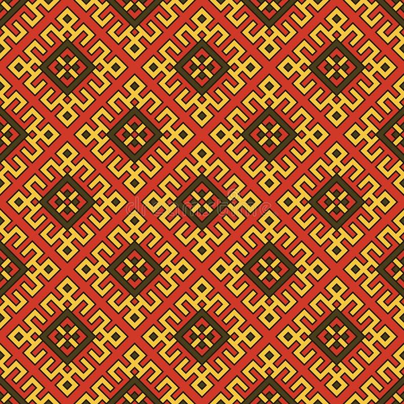 bezszwowy abstrakcjonistyczny etniczny ornament royalty ilustracja