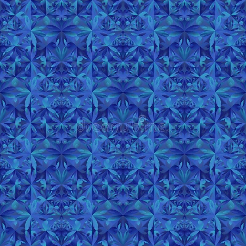 Bezszwowy abstrakcjonistyczny geometrical kwiecisty tr?jboka wzoru t?o royalty ilustracja