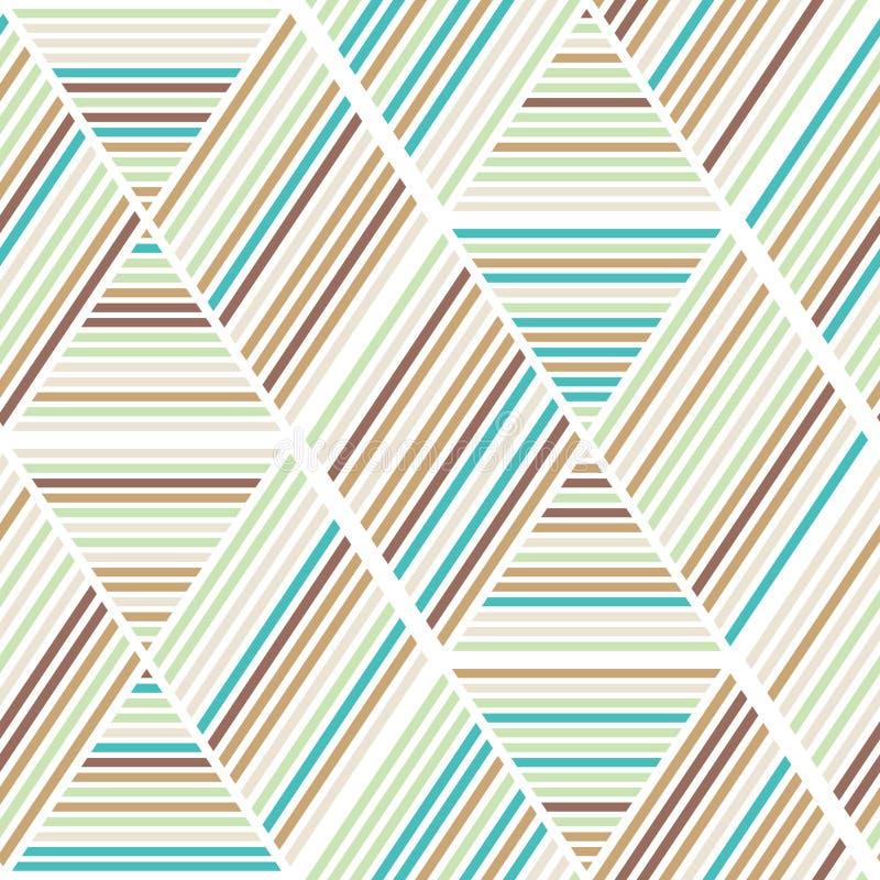 Bezszwowy abstrakcjonistyczny geometrii tła wzór ilustracja wektor
