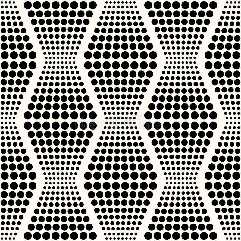Bezszwowy abstrakcjonistyczny geometryczny kropki tło ilustracja wektor
