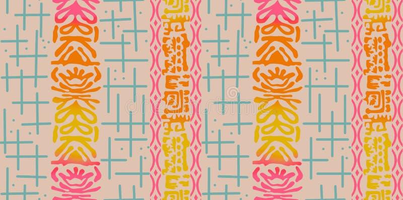 Bezszwowy abstrakcjonistyczny kolorowy projekta tło ilustracja wektor