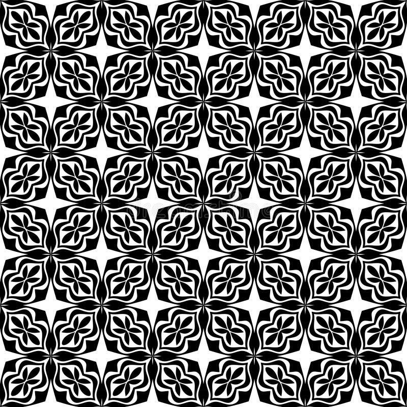 Bezszwowy abstrakcjonistyczny kwiecisty geometryczny wektoru wzór ilustracja wektor