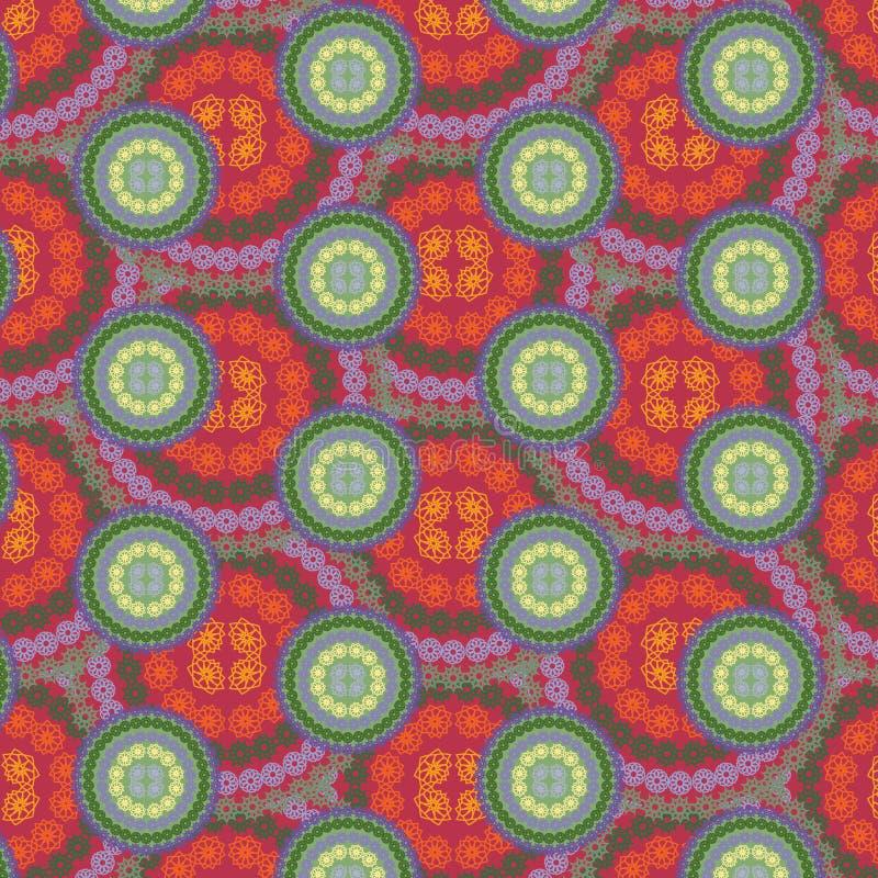 Bezszwowy abstrakcjonistyczny mandala multicolor wzór royalty ilustracja