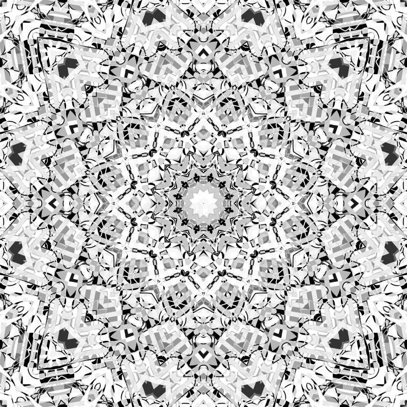 Bezszwowy abstrakcjonistyczny mozaiki kaleidoscop mandala wzór ilustracja wektor