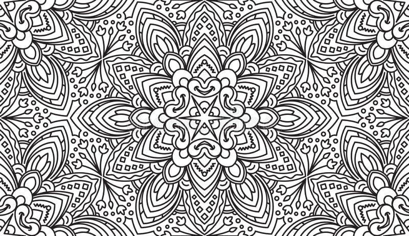 Bezszwowy Abstrakcjonistyczny Plemienny wzór Ręka Rysująca Etniczna tekstura Vec ilustracja wektor
