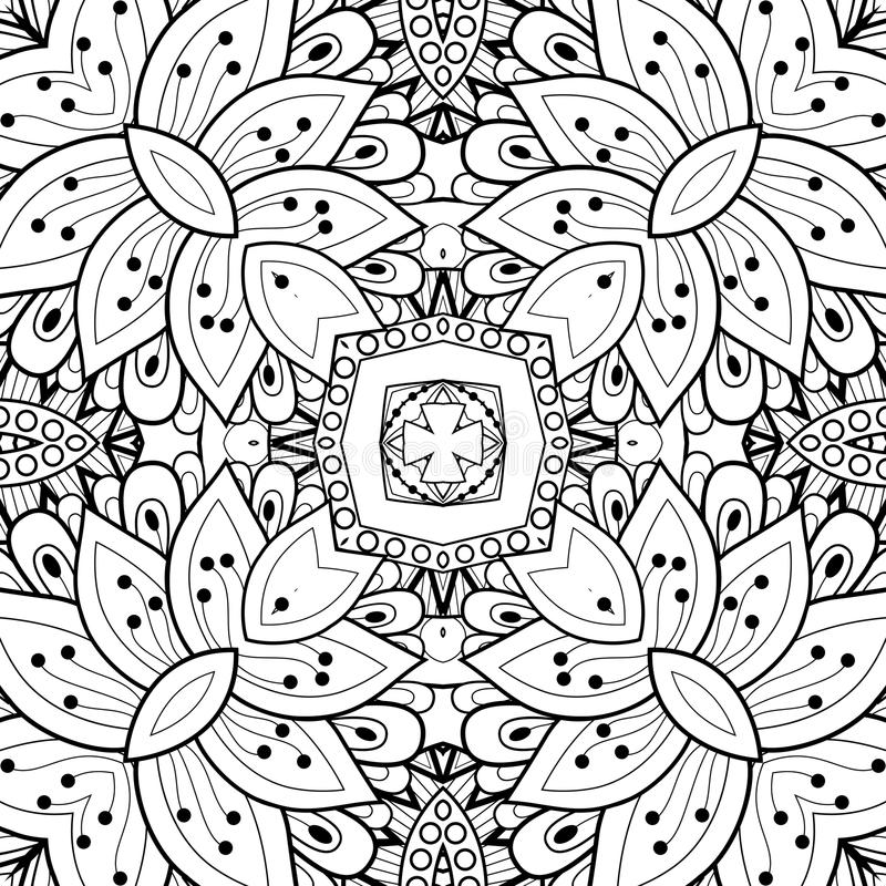 Download Bezszwowy Abstrakcjonistyczny Plemienny Wzór (wektor) Ilustracja Wektor - Ilustracja złożonej z kalejdoskop, linia: 57661838