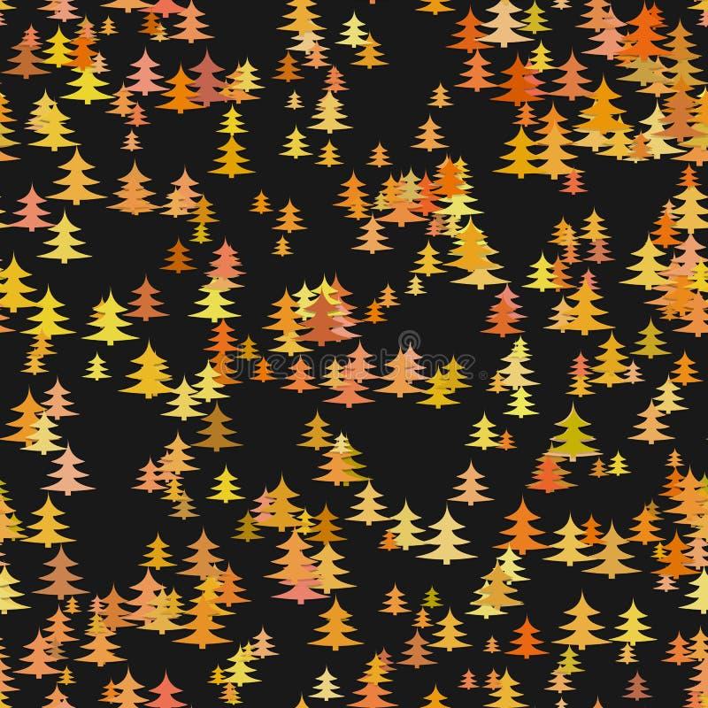 Bezszwowy abstrakcjonistyczny przypadkowy sosna wzoru tło - wektorowa dekoracja ilustracja wektor