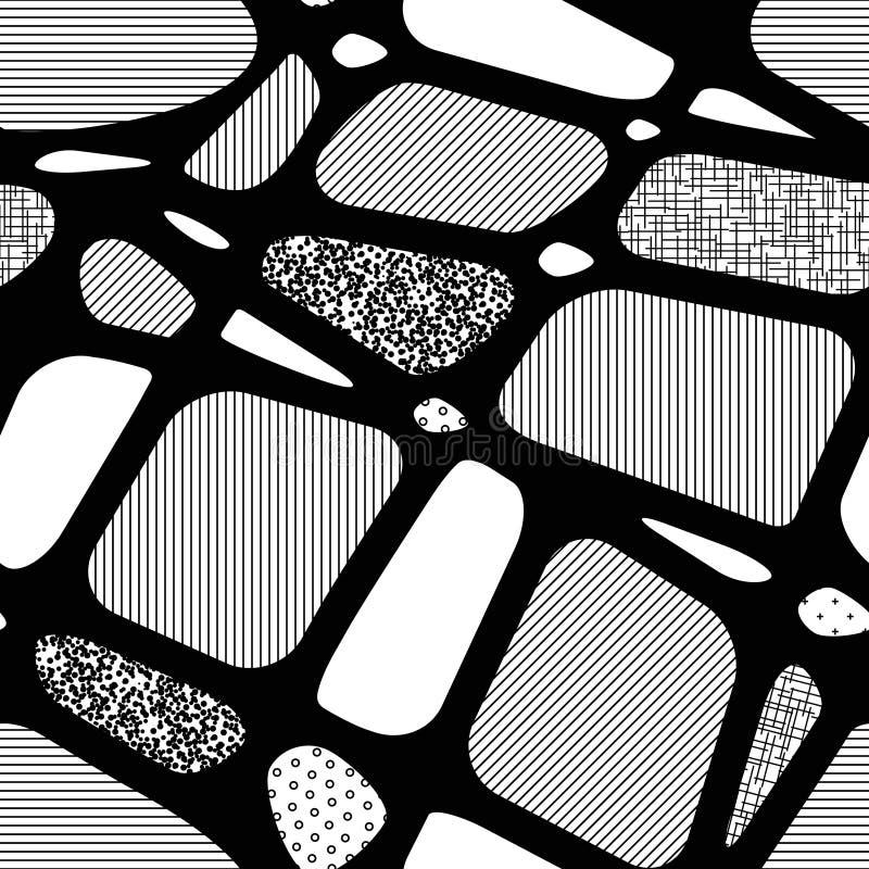 Bezszwowy abstrakcjonistyczny tło geometryczni kształty royalty ilustracja