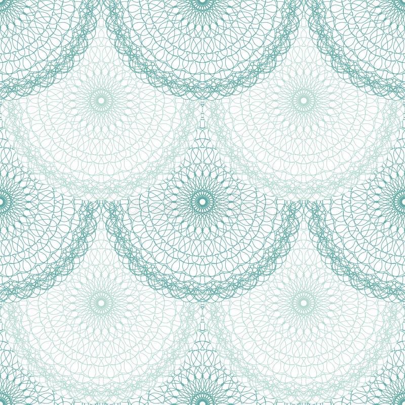 Bezszwowy abstrakcjonistyczny tło wzór giloszuje ornament ilustracji