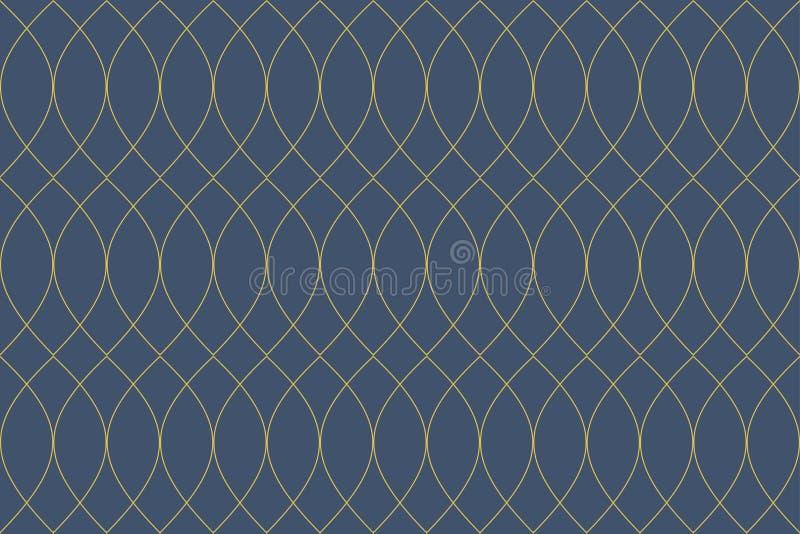 Bezszwowy, abstrakcjonistyczny tło wzór robić z częstotliwymi curvy liniami, ilustracji