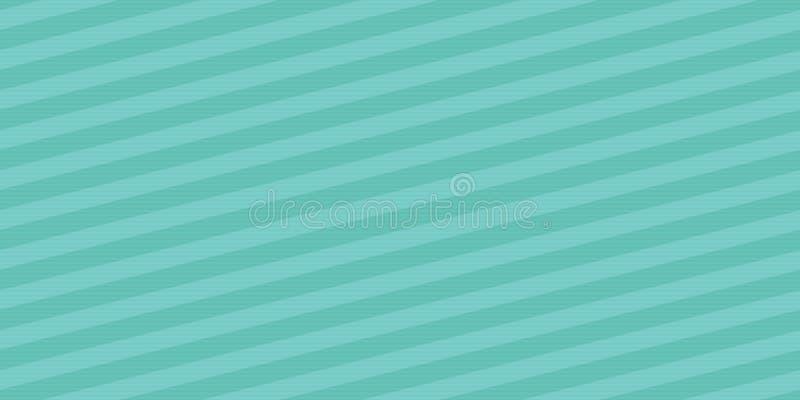 Bezszwowy abstrakcjonistyczny wektorowy diagonalny lampasa wzór w rocznika turkusowym kolorze royalty ilustracja
