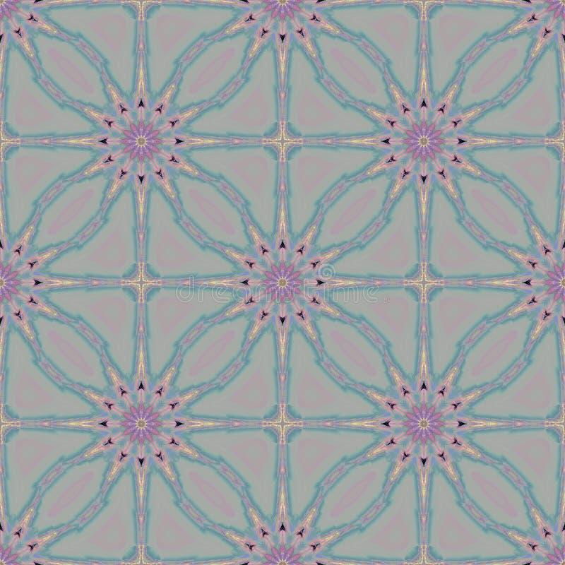 Bezszwowy abstrakt kwitnie fiołkowe błękitne szarość przesuwać ilustracja wektor