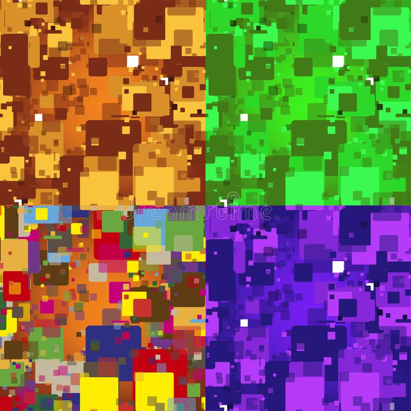 Bezszwowy abstrakt obciosuje tekstur? Wektorowa kolorowa tekstura ilustracji