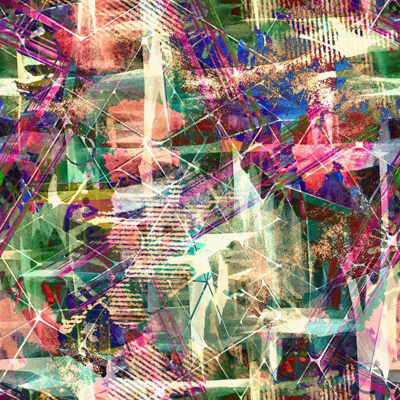 Bezszwowy abstrakt z akwarela skutkiem Elegancki wzór dla tkanin ilustracji