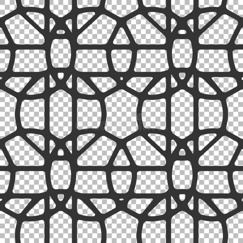Bezszwowy abstrakta wzór geometryczni kształty, okręgi, wieloboki ilustracji