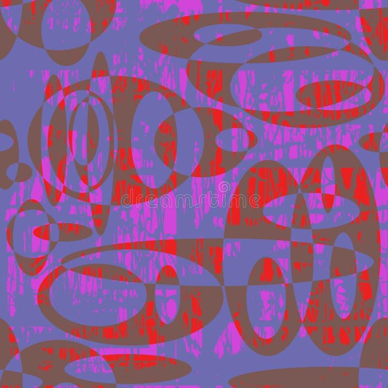 Bezszwowy abstrakta wzór stubarwni półprzezroczyści elementy pokrywa się each inny royalty ilustracja