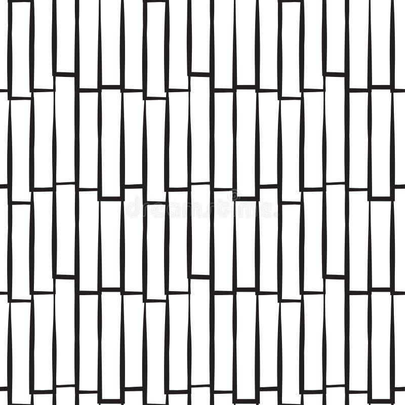 Bezszwowy abstrakta wzór z rzędami royalty ilustracja