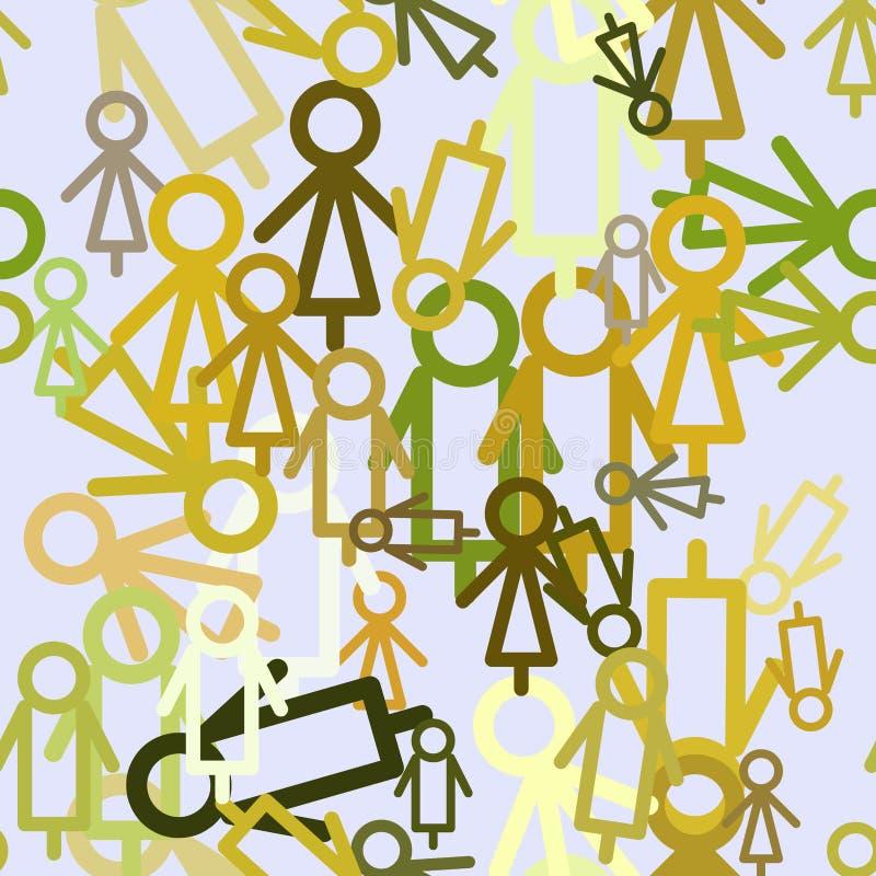 Bezszwowy abstrakta znak męski lub żeński generatywny sztuki tło Sieć, szablon & dekoracja, kreatywnie, ilustracji