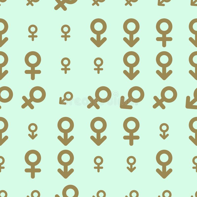 Bezszwowy abstrakta znak męski lub żeński generatywny sztuki tło Tapeta, wzór, cyfrowy, & kształt ilustracji