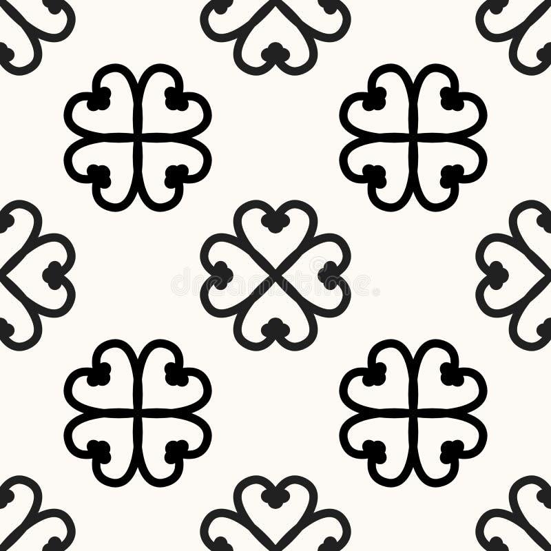 Bezszwowy afrykanina Adinkra wzór - czarny i biały cyfrowej sztuki symbolu Nyame Dua plemion i narodów obrządkowi Akans ilustracja wektor