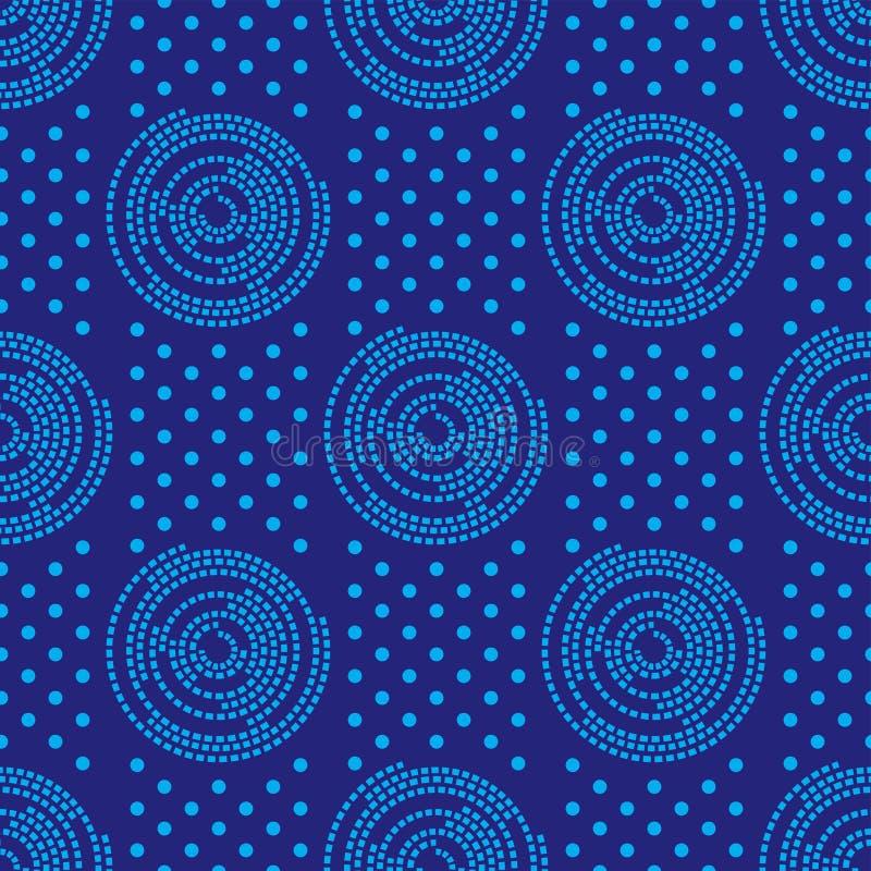 Bezszwowy afrykanina Shweshwe wzoru projekt dla tkaniny i tkanin royalty ilustracja