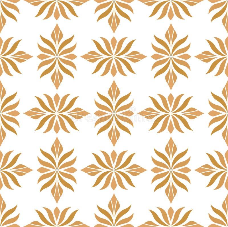 Bezszwowy Arabeskowy Kwiecisty wzór Art Deco Projektuje tło Wektorowa Abstrakcjonistyczna kwiat tekstura royalty ilustracja