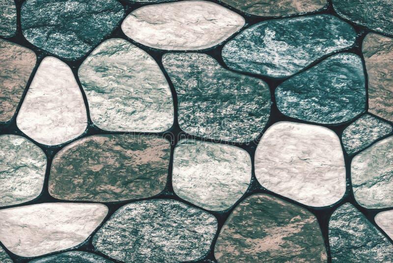 bezszwowy ashlar kamiennej ściany tekstury tło ściana textured kończy ogrodzenie z skałą fotografia royalty free