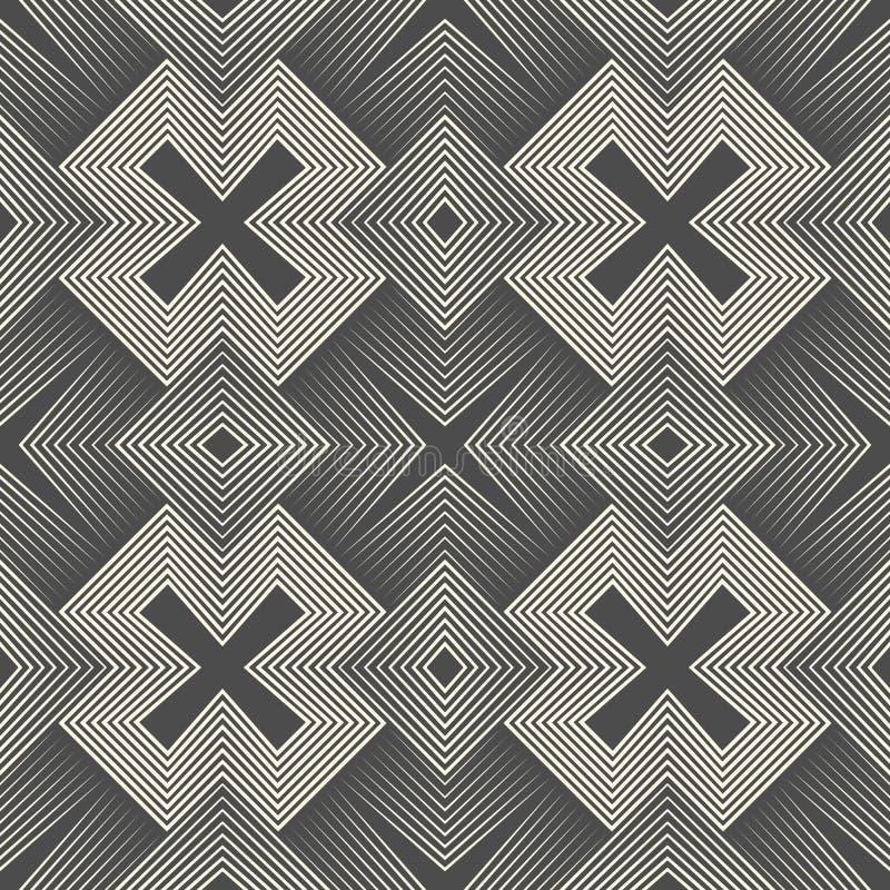 Bezszwowy aztec wzór Monochrom geometrii Święty tło royalty ilustracja