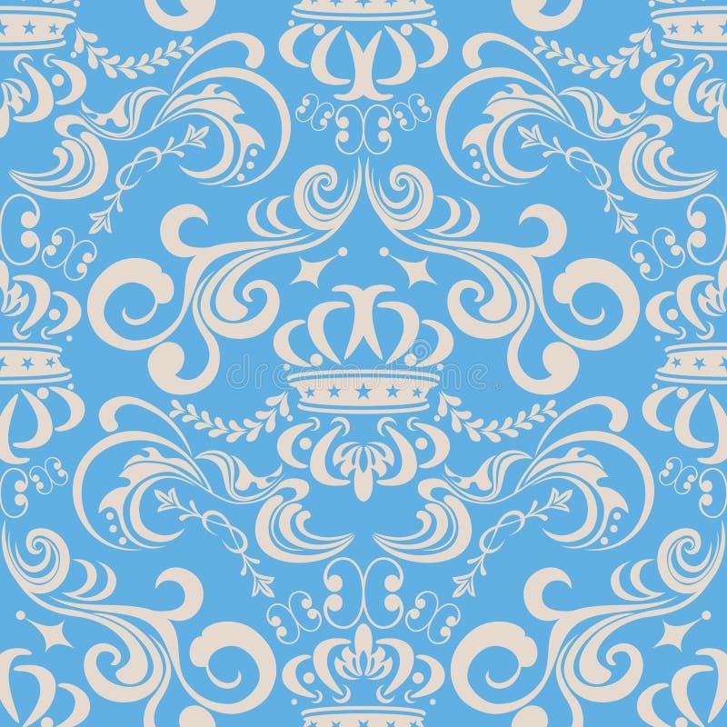bezszwowy błękit abstrakcjonistyczny wzór royalty ilustracja