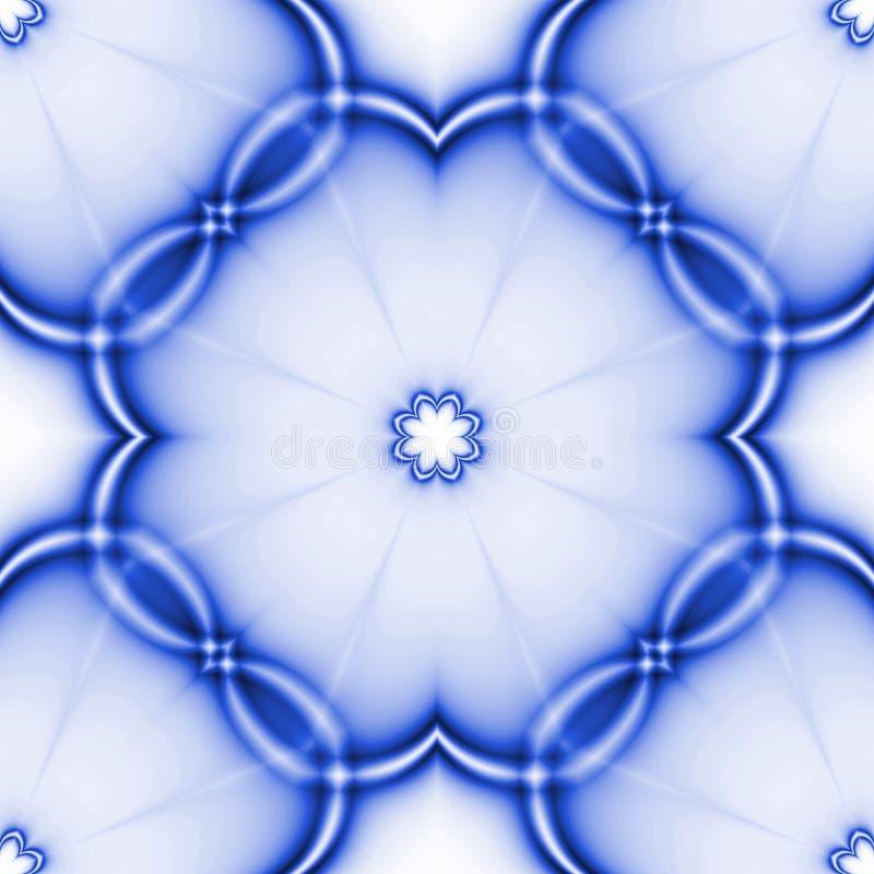 Bezszwowy błękitny abstrakt taflujący mozaika wzór Niekończący się tekstura dla tapety, strony internetowej tło, tekstylny projek royalty ilustracja