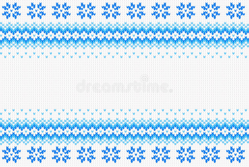 Bezszwowy błękitny i biały trykotowy tło ilustracji