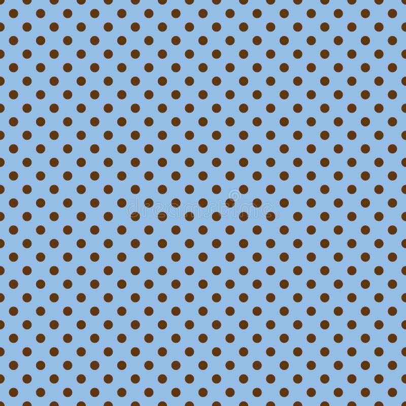 Bezszwowy błękitny i brown kropka wzoru tło royalty ilustracja