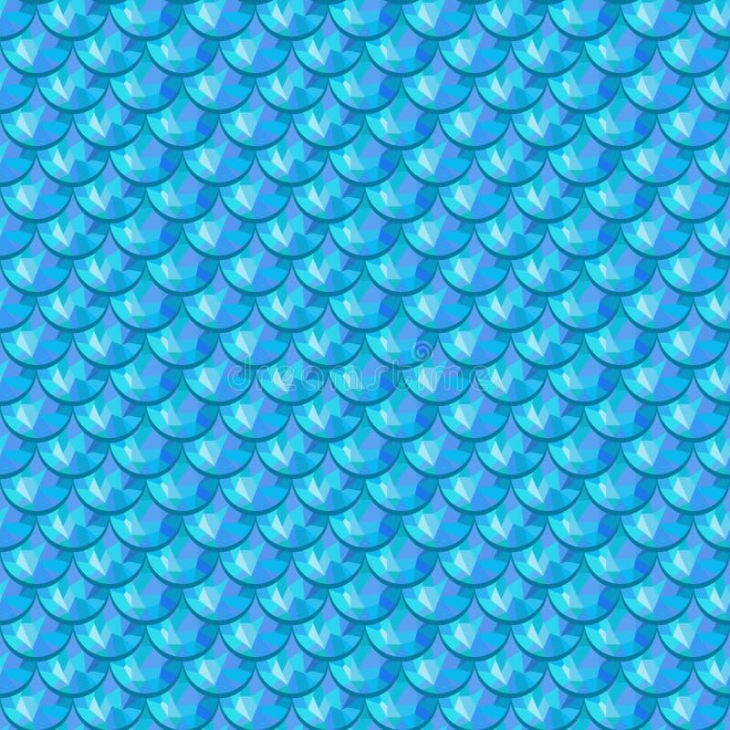 Bezszwowy błękitny rzeczny rybi waży ilustracja wektor