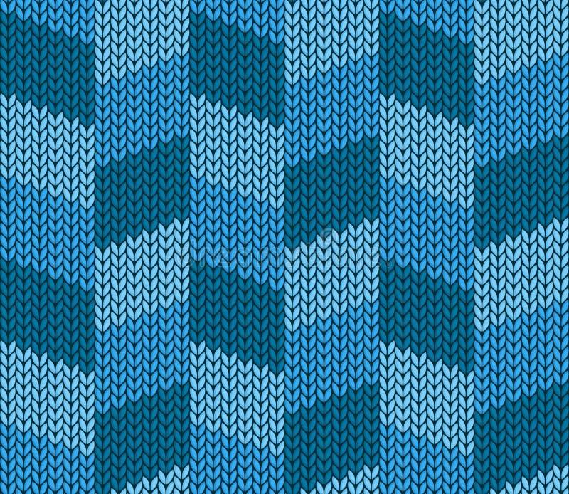 Bezszwowy błękitny trykotowy tło royalty ilustracja