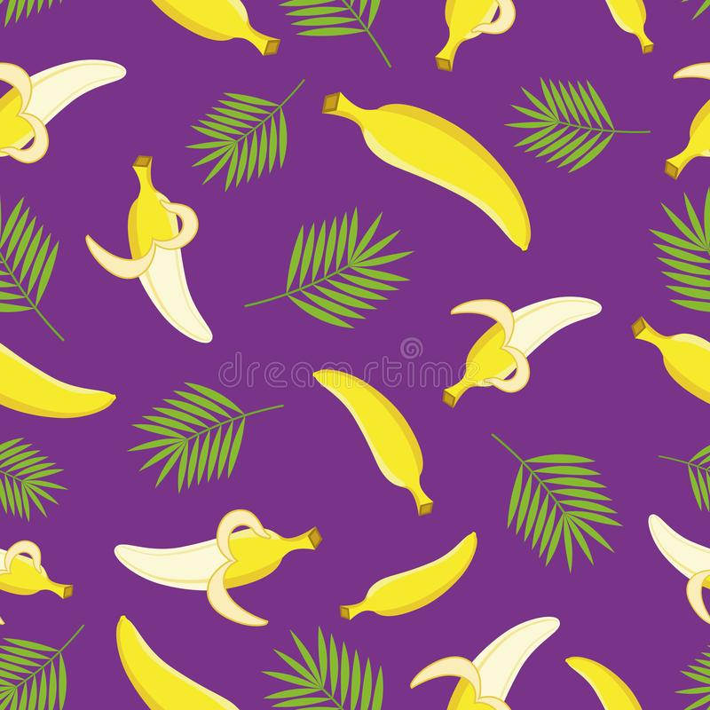 Bezszwowy banana wzór wektor royalty ilustracja