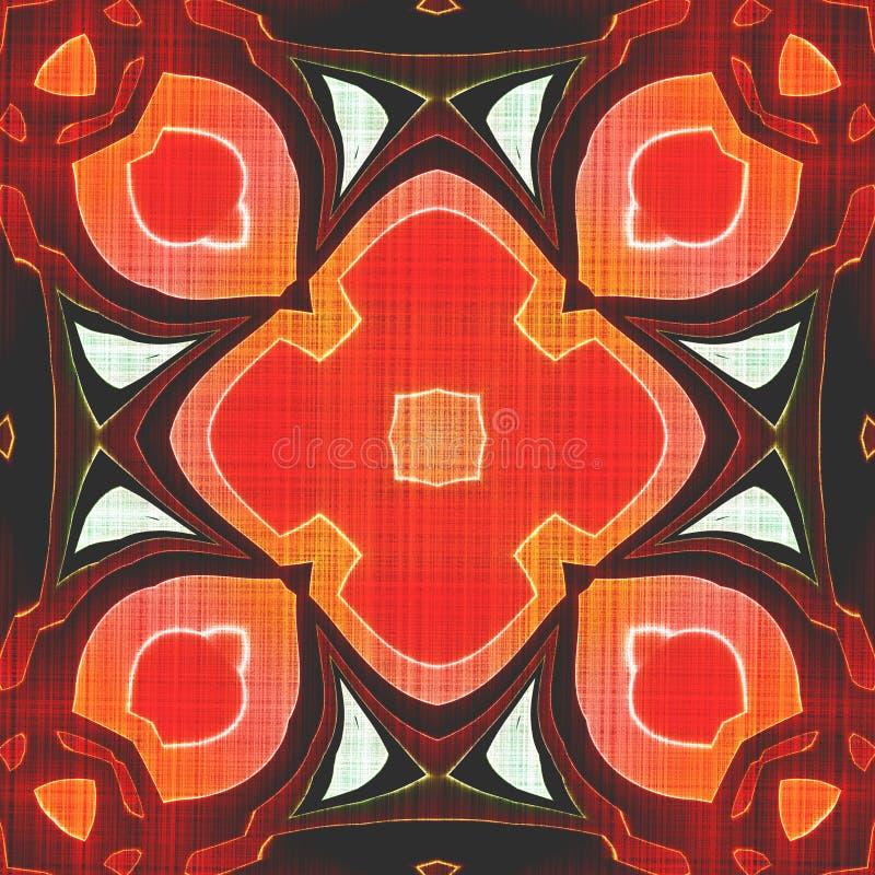 Bezszwowy Batikowy pomarańczowy tło zdjęcia royalty free