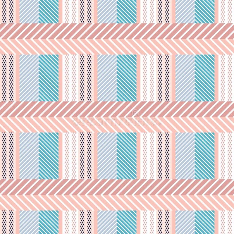 Bezszwowy bawełnianej tkaniny wzór ilustracji