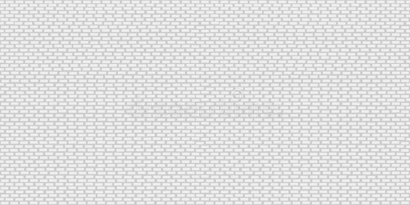 Bezszwowy biały ściana z cegieł wzór dla tła ilustracja wektor