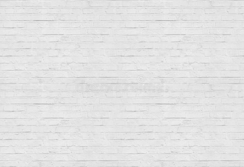 Bezszwowy biały ściana z cegieł wzoru tło zdjęcie stock