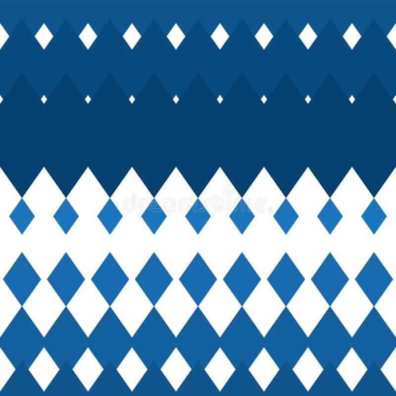 Bezszwowy biały rhombus tło pionowo Tekstur tła dla tkanina drukowego papieru niebieski obraz nieba t?czow? chmura wektora royalty ilustracja