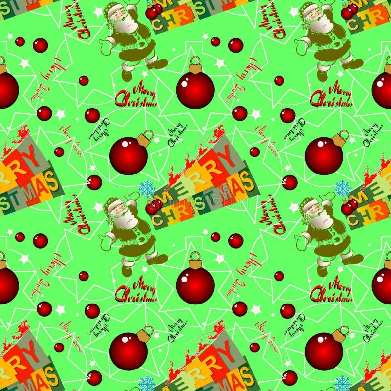 Bezszwowy Bożenarodzeniowy tło z Święty Mikołaj royalty ilustracja